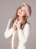 Warm and cozy clothes. Stock Photos