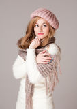 Warm and cozy clothes. Stock Images