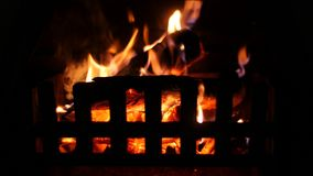 Warm Cozy Fireplace stock video footage