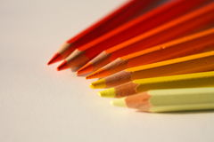 Warm Crayons Royalty Free Stock Photography