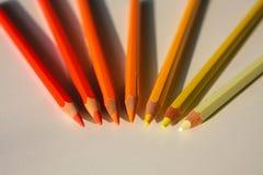 Warm Crayons Royalty Free Stock Photo