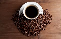 Warm cup of ciffee Royalty Free Stock Photos