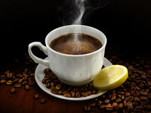 Warm cup of coffee Stock Image