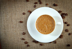 Warm cup of coffee Royalty Free Stock Photo