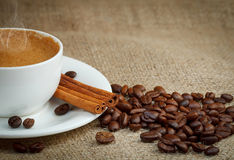 Warm cup of coffee Stock Photos