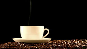 Warm cup of coffee stock footage