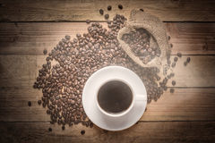 Warm cup of coffee Stock Images