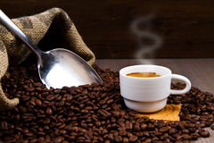 Warm cup of coffee Royalty Free Stock Photos