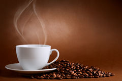 Warm Cup Of Ciffee Royalty Free Stock Photo