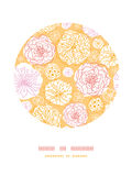 Warm day flowers circle decor pattern background Royalty Free Stock Photography