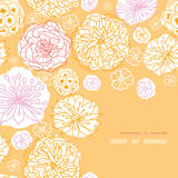 Warm day flowers corner frame pattern background Stock Image