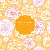 Warm day flowers frame seamless pattern background Stock Photos