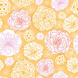 Warm day flowers seamless pattern background Royalty Free Stock Images