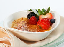 Warm dessert with berries Royalty Free Stock Image