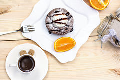 Warm dessert chocolate cake Fondant Royalty Free Stock Photography
