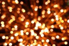 Warm dots. New years decoration shutted stock images