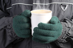 Warm drink in Winter Royalty Free Stock Images