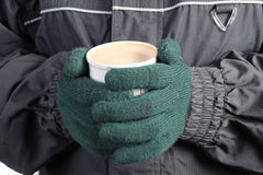 Warm drink in Winter Royalty Free Stock Photos