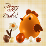 Warm Easter greetings postcard Stock Photo