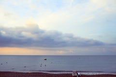 Warm evening at the sea shore Royalty Free Stock Photos
