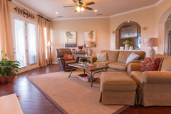 Warm family living room. A warm and inviting living room royalty free stock photography