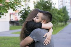 Warm feelings of two people Royalty Free Stock Photo