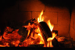 Warm fire Stock Image