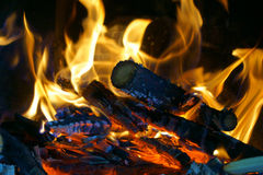 Warm fire flames Stock Photography