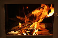 Warm flames Royalty Free Stock Image