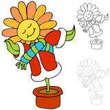 Warm Flower. An image of a flower being kept warm Stock Photos