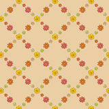 Warm Flower Net Pattern Stock Photo