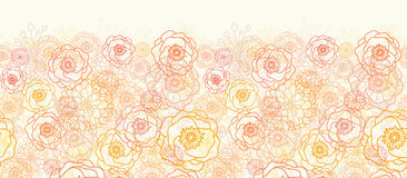 Warm flowers horizontal seamless pattern background Stock Photography