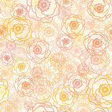 Warm flowers seamless pattern background Stock Photos
