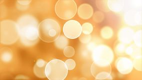 Warm flying bokeh lights abstract background with glow effect. stock video footage