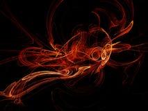 Warm fractals stock image