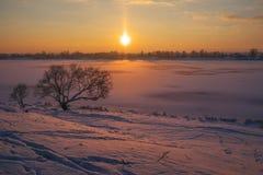Warm freeze evening Royalty Free Stock Image