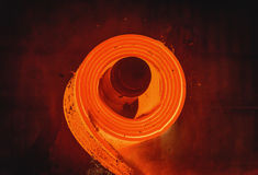 Warm gewalzter Stahlprozeß Stockbild