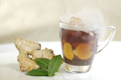 Warm ginger tea Stock Images