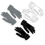 Warm gloves isolated on white background Royalty Free Stock Image