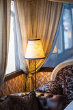 The Warm Glow classic lamp. In the interior Royalty Free Stock Photos