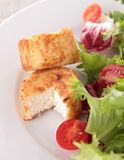 Warm goat cheese and salad Stock Image