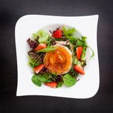 Warm goat cheese salad Royalty Free Stock Photography