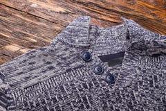 Warm gray sweater stock image