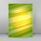Warm green background blur page A4 brochure. Modern design spring abstract background of bright glowing blur oblique rays. Graphic Vector illustration EPS 10 stock illustration
