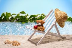 Warm greetings from vacation Stock Image
