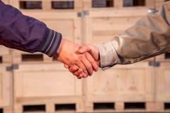 Warm Handshake Royalty Free Stock Image