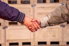 Warm handshake Royalty Free Stock Image