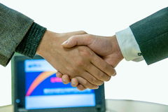 Warm handshake Royalty Free Stock Images