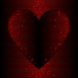 Warm heart background Stock Photography