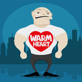 Warm heart. Royalty Free Stock Image
